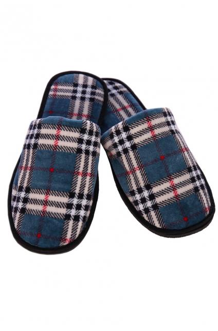 """Тапочки мужские с закрытым носком велюр """"Бархат"""" Арт. 141"""